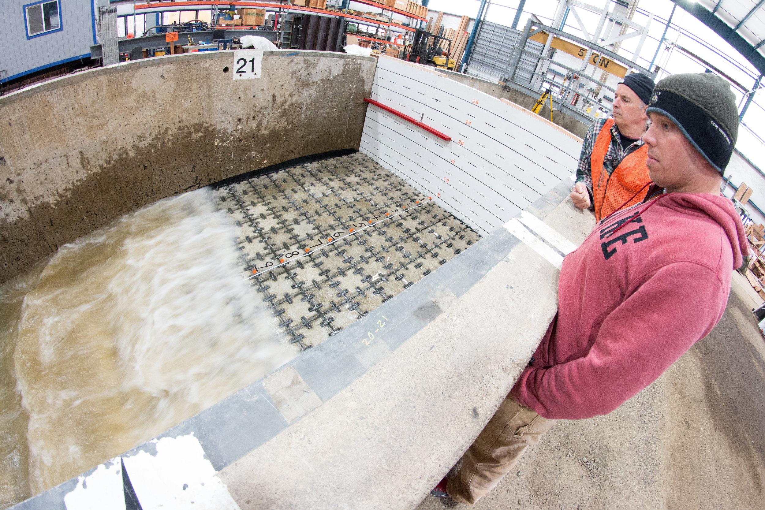 Large Scale Model Test - Concrete Mat