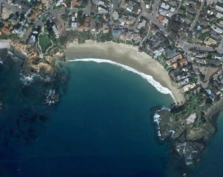 Site of Flourescent Tracer Study, Crescent Bay, Laguna Beach
