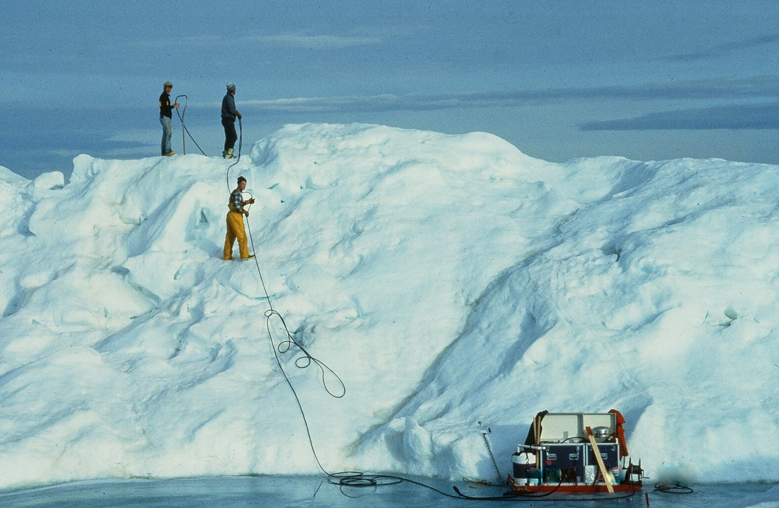 Determining Ice Floe Thickness with Thermal Drill