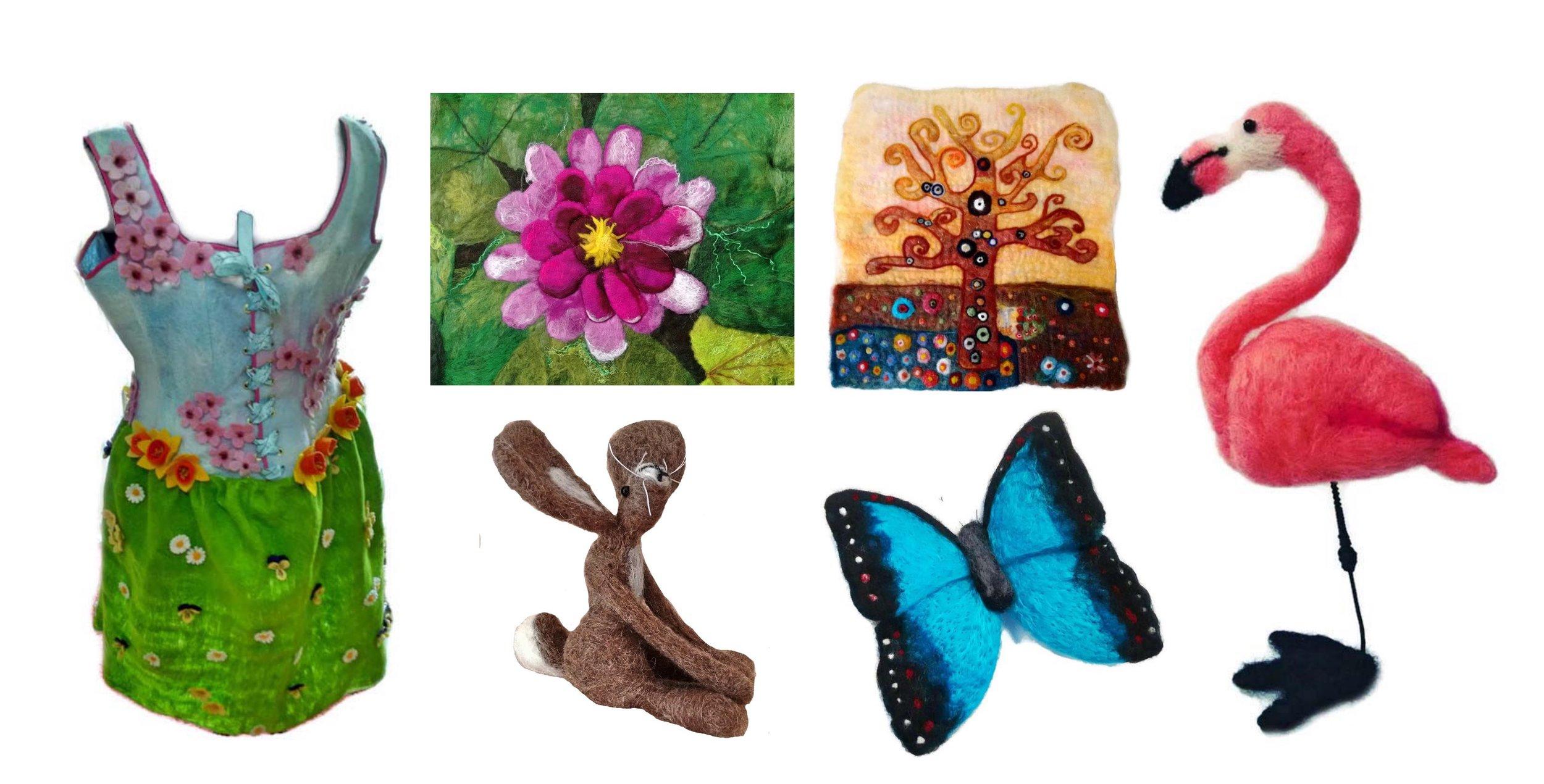 Collage of Felt.Sew.Creative Work
