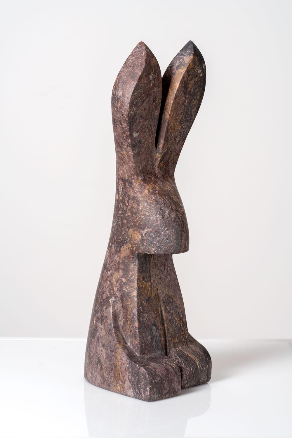 "The Curious Rabbit   Wonderstone (Utah)  5"" W x 6"" L x 15"" H  Jason Carter, 2018  SOLD"