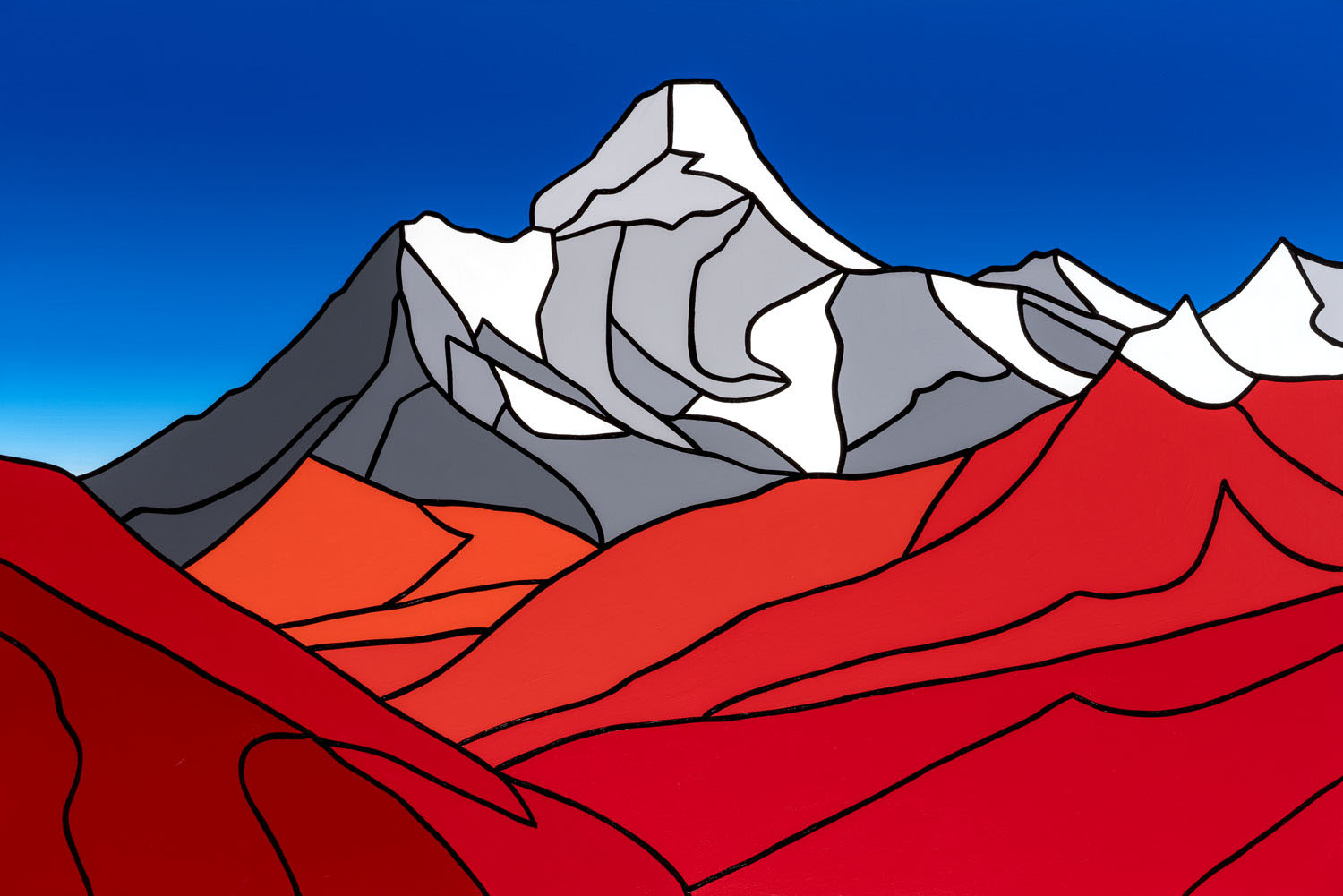 "The Mountain, Fall   60"" x 40"" Acrylic on Canvas  Jason Carter, 2018  SOLD"