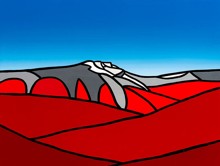 "Old Man Mountain At Fall   40"" x 30"" Acrylic on Canvas  Jason Carter, 2014  $3100"
