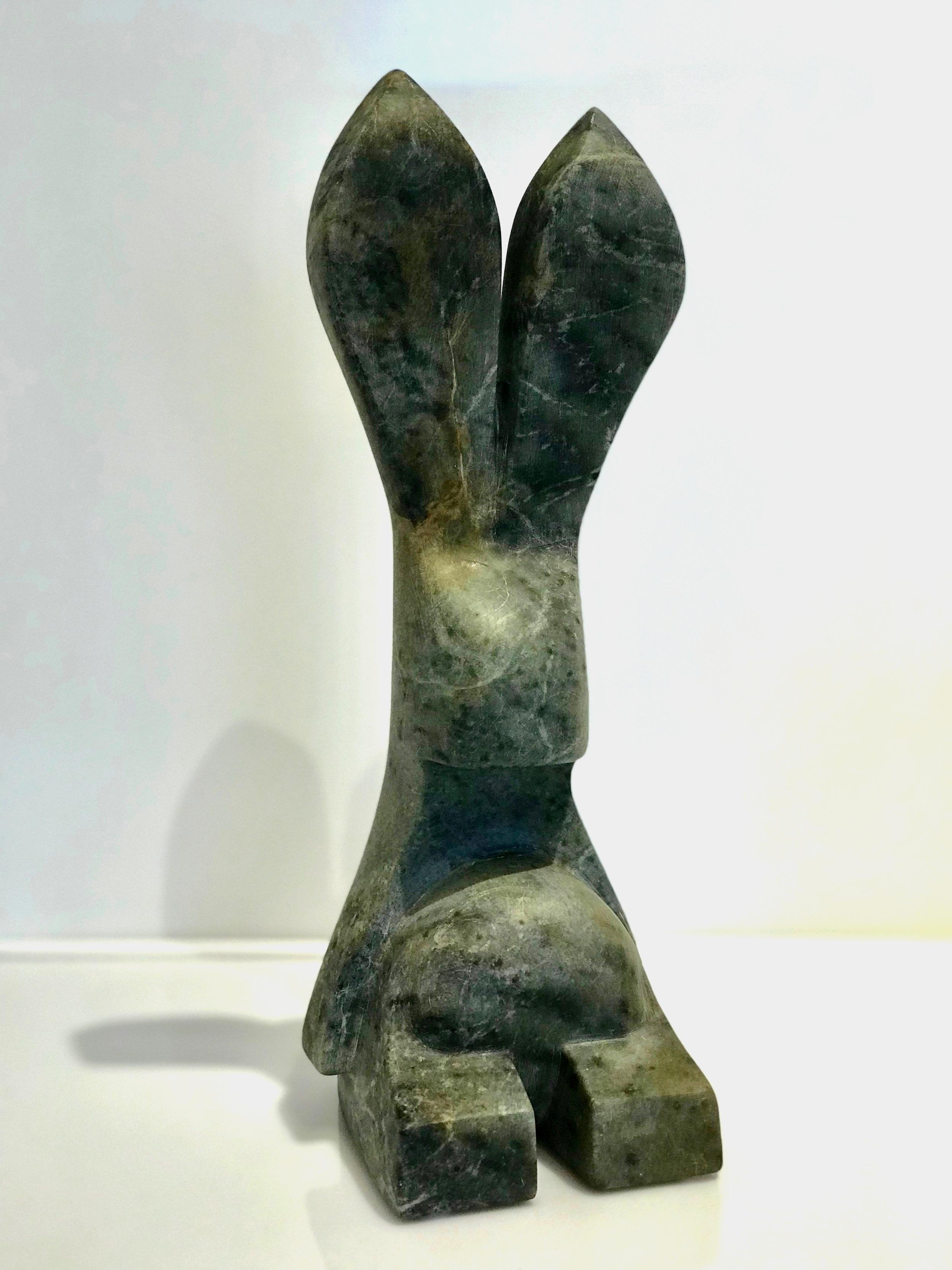 The Content Fat Rabbit  Canadian Soapstone   Jason Carter, 2019  $2000