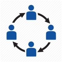 Organization Development icon, people, team, circle