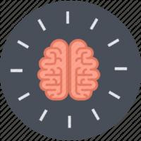 Learning design, brain icon