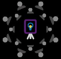 Facilitation, audience, people icon