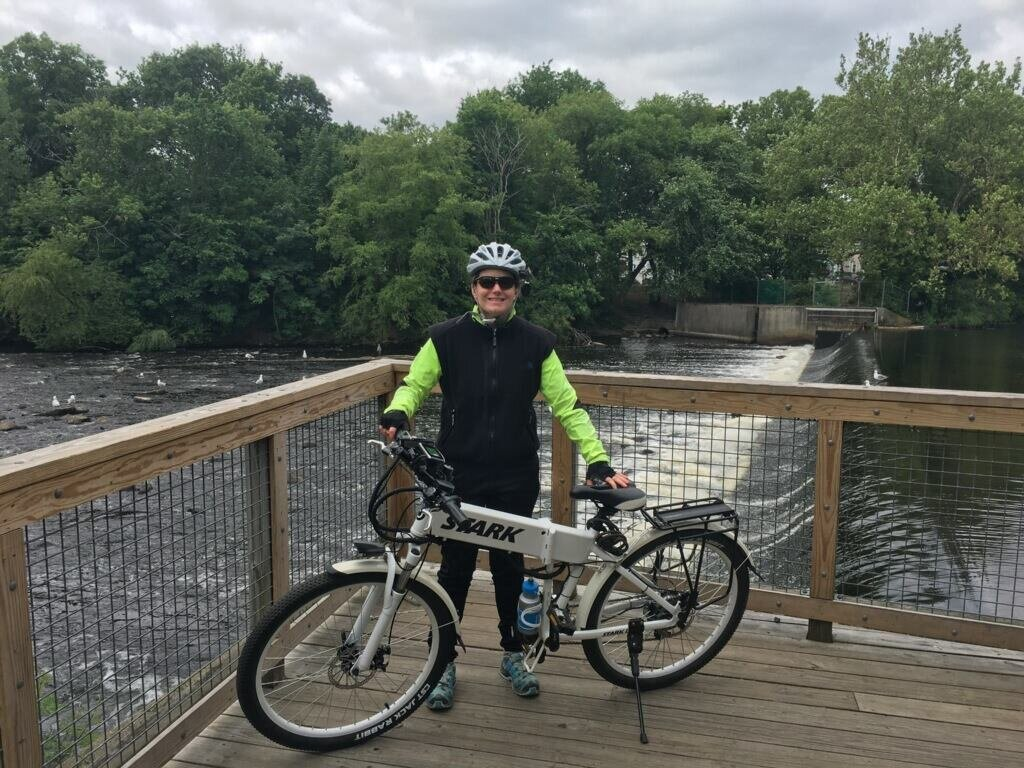 Sarah Scala on the Charles River Bike path in Watertown, MA photo credit : Holly Johnson