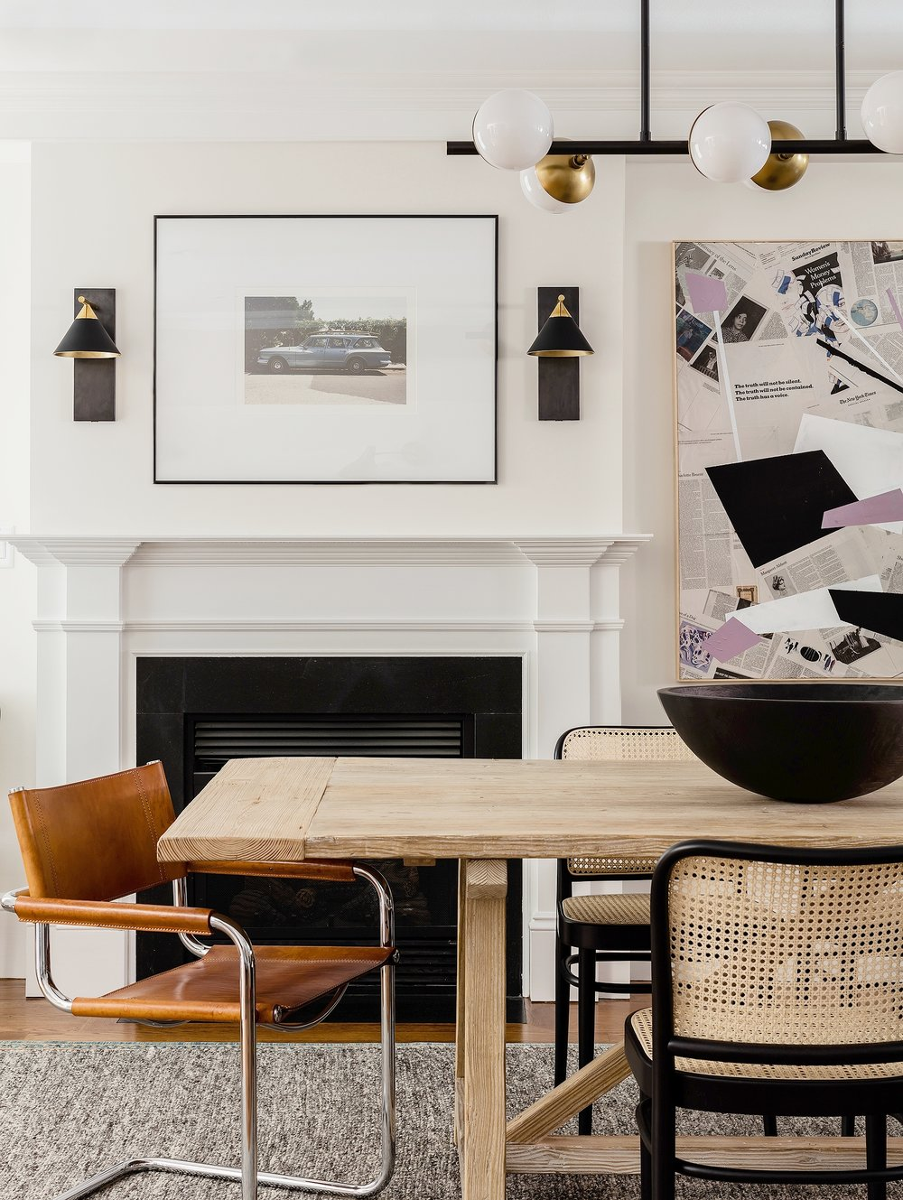 SOUTH END PROJECT 4    Bold graphics and modern lines gives this space an eclectic edge.
