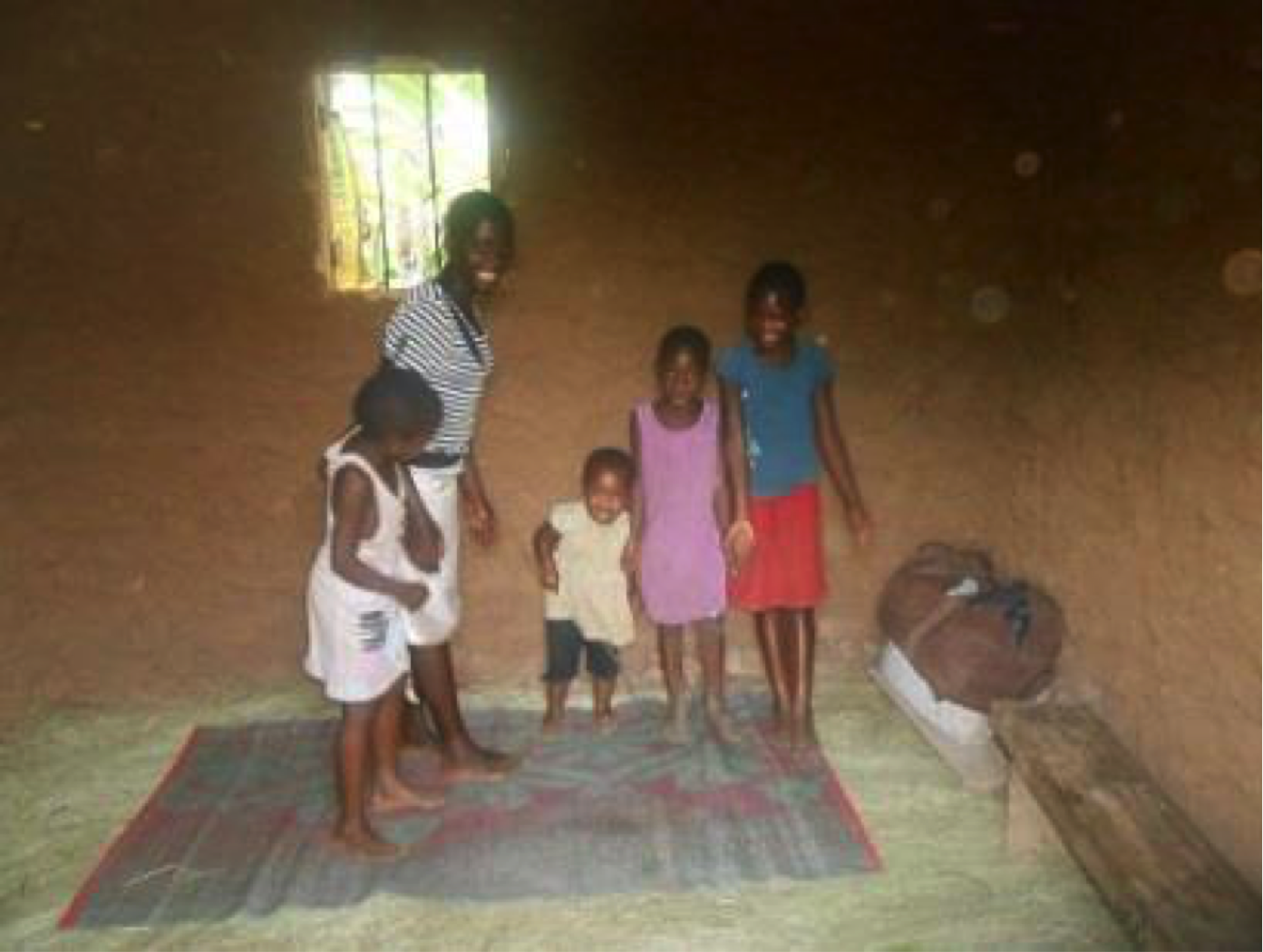 Olivia's grandchildren in their new play and study room