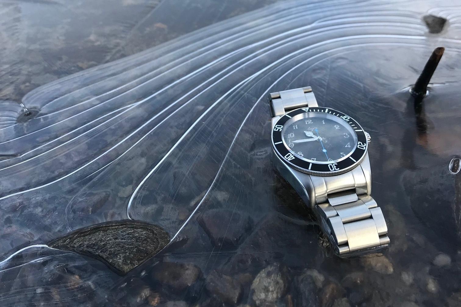 Tom Corneill Watches watch on ice.jpg