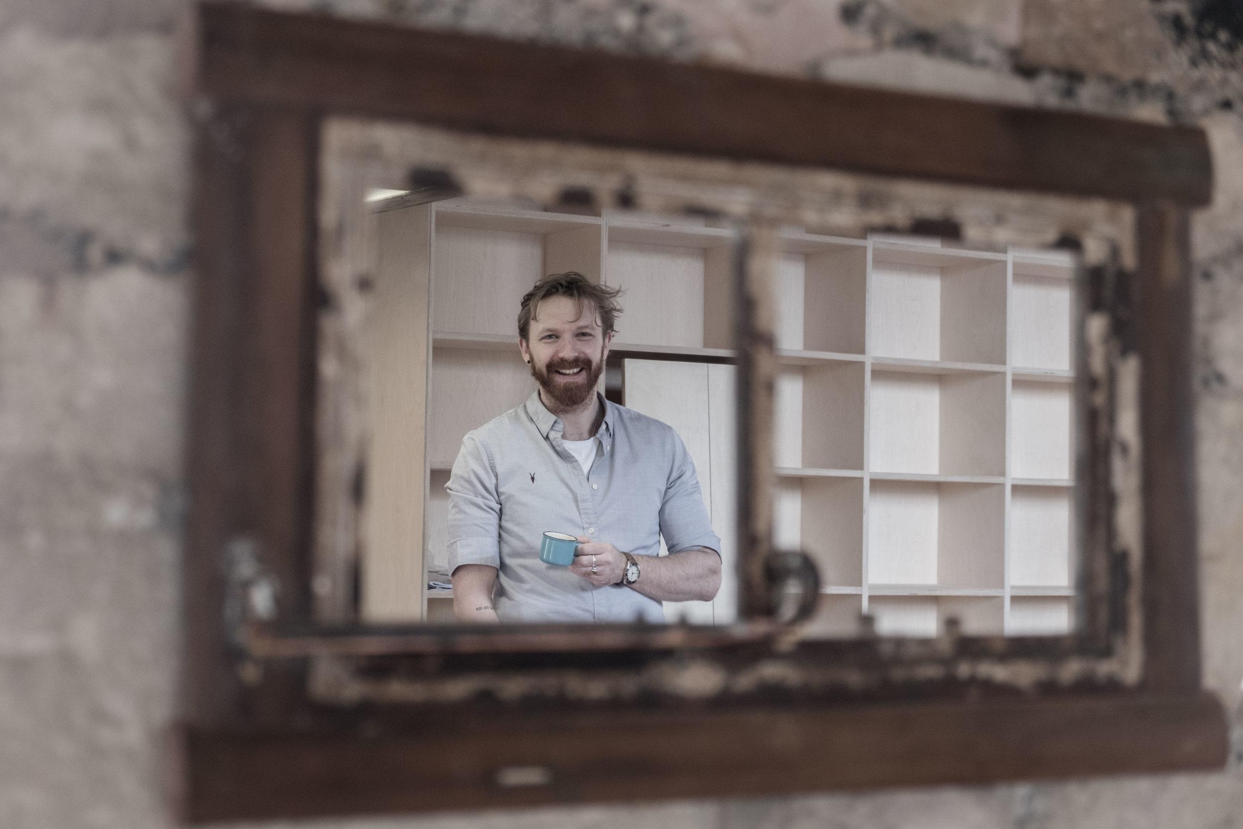Photo: Me, in a mirror. Photo by Paul osborne