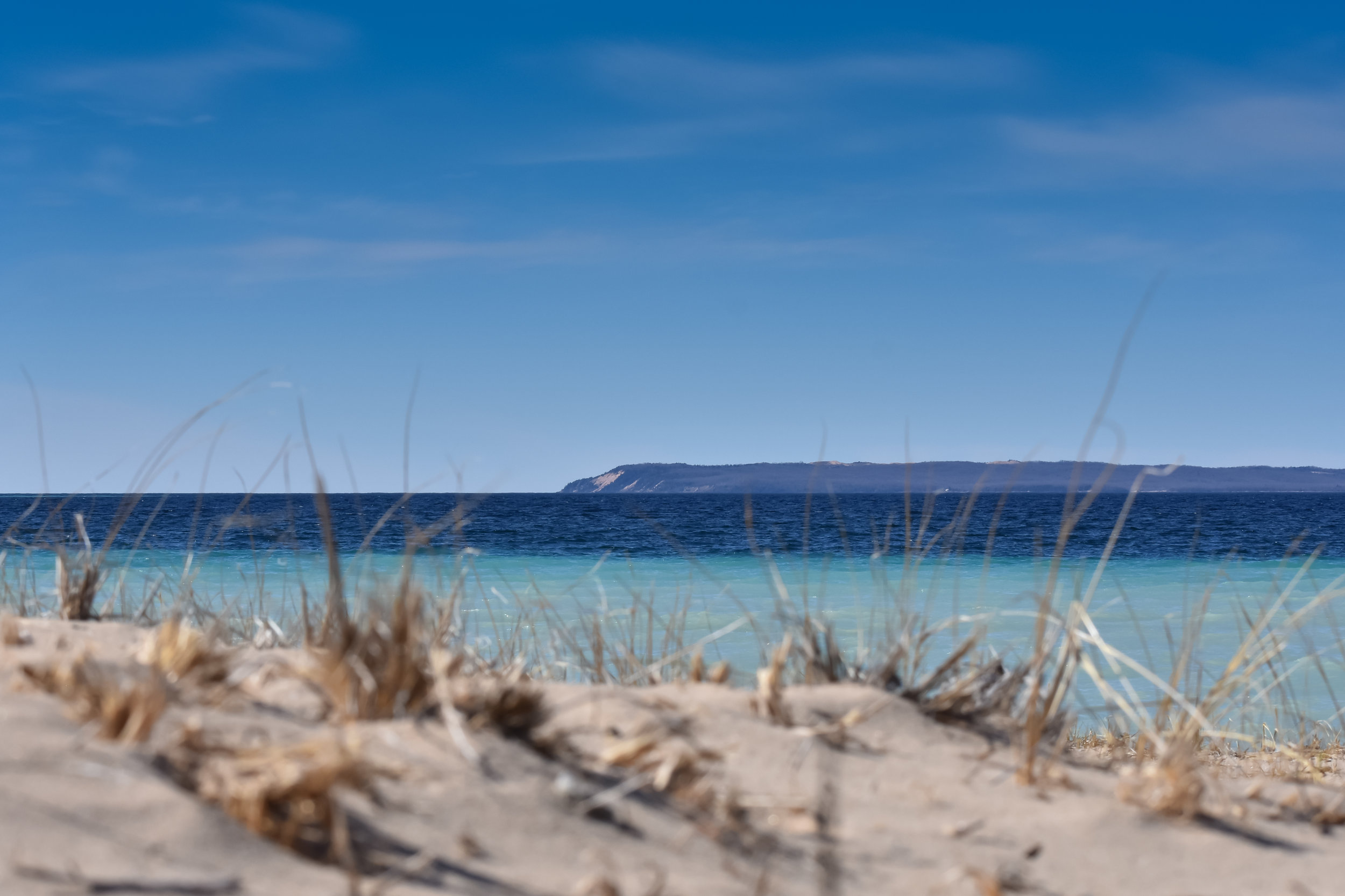 View of Manitou Islands from Glen Arbor