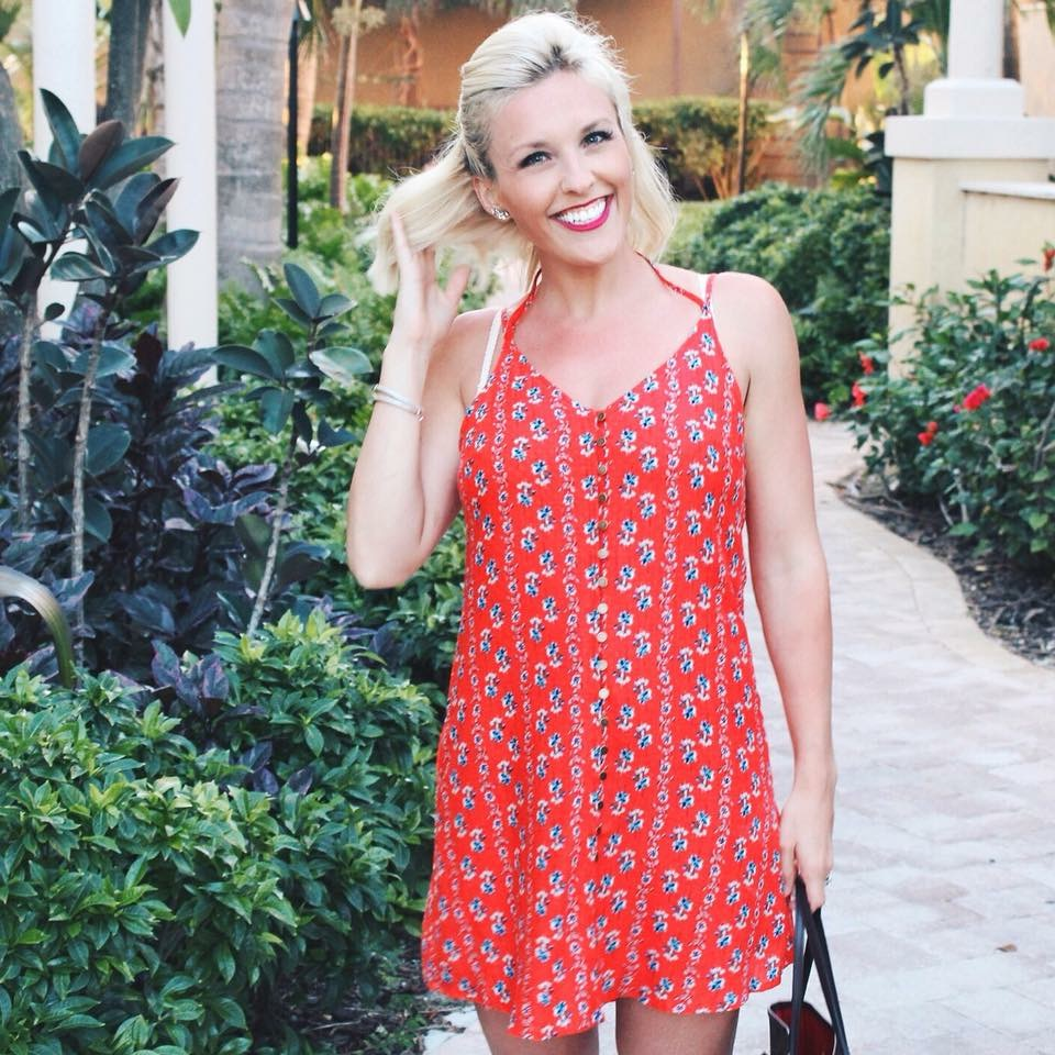 Vici Collection for the win again. Fun and flirty dress for vacation or a night out on the town, I was obsessed with this dress!!!! Wearing a medium.  DEETS:  Lovey Dovey Button Down Dress
