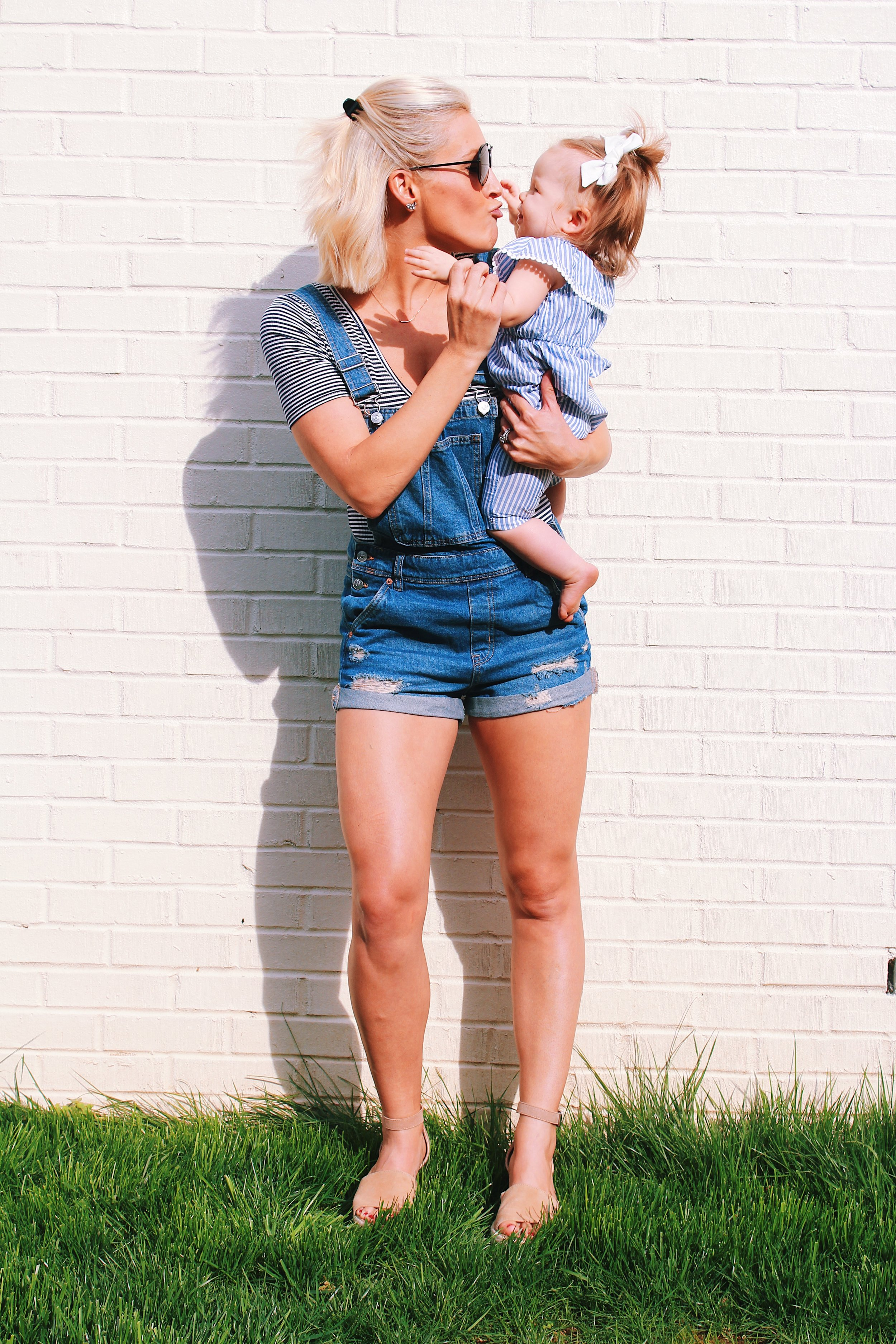 Denim Short Overalls - All in with Angie