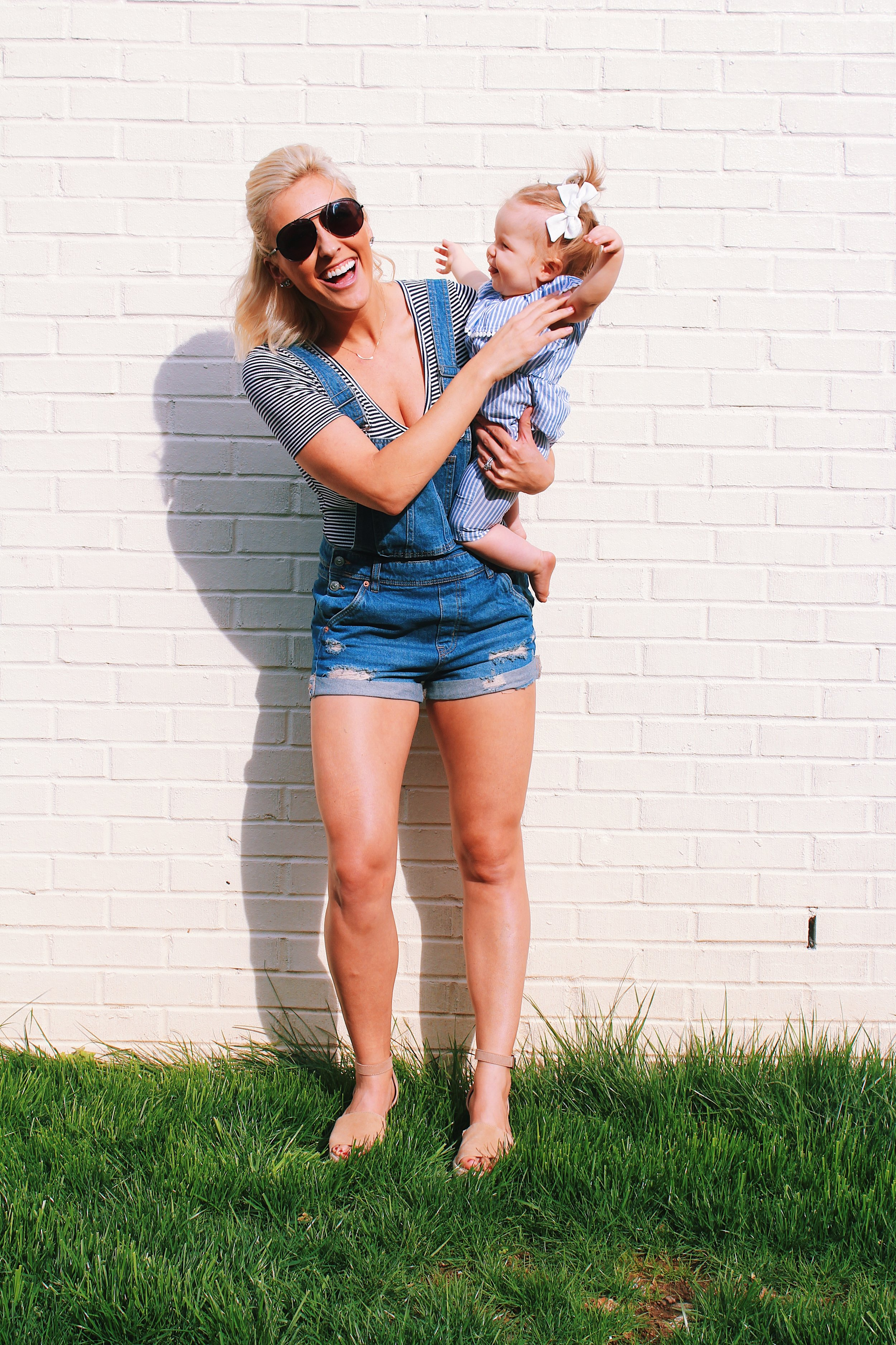 Denim Shorts Overalls - All in with Angie