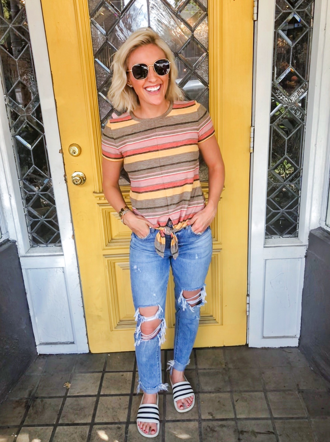 DEETS:  Sunnies  |  Tee  |  Jeans  |  Shoes