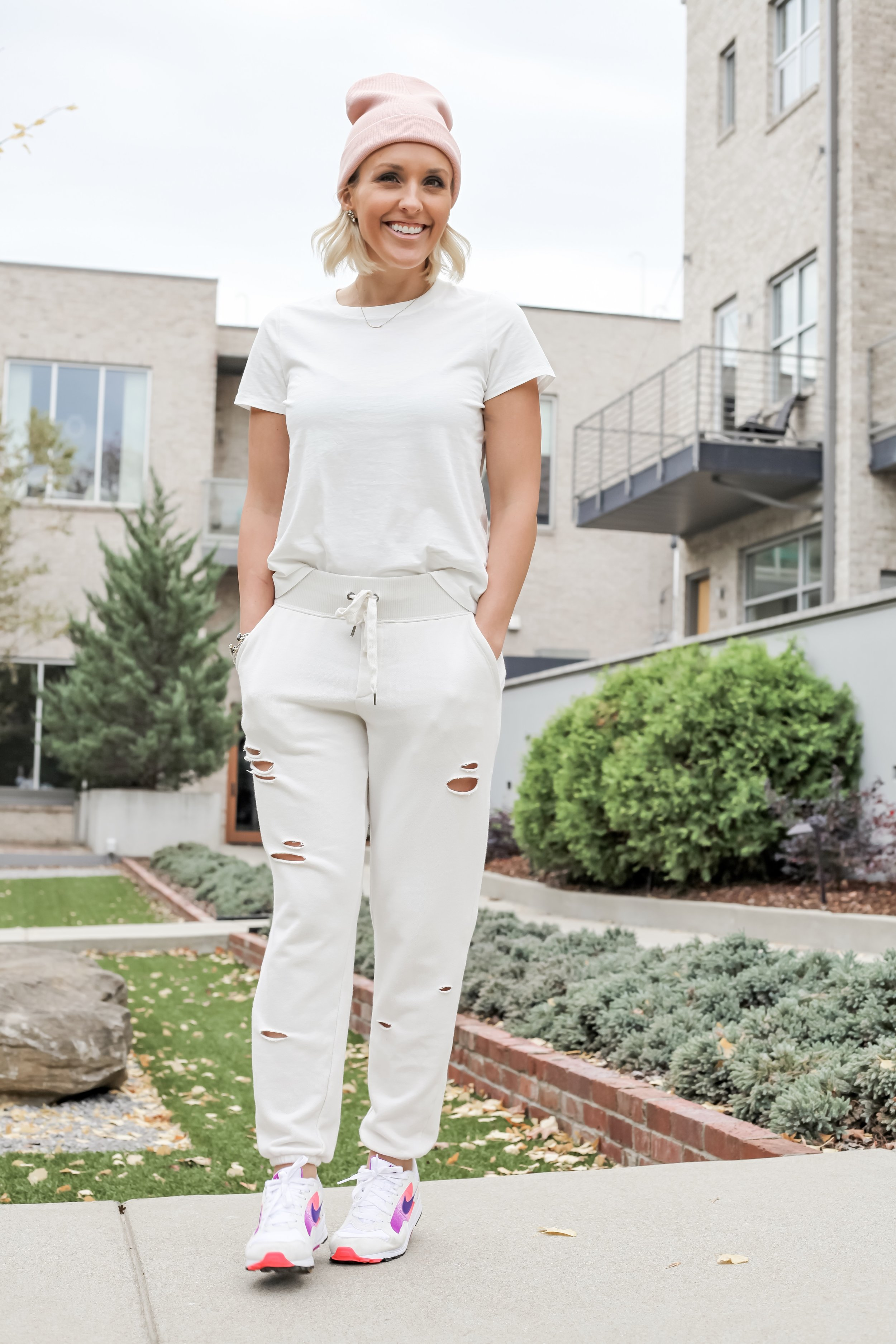 5 Ways to Style Joggers - All in with Angie