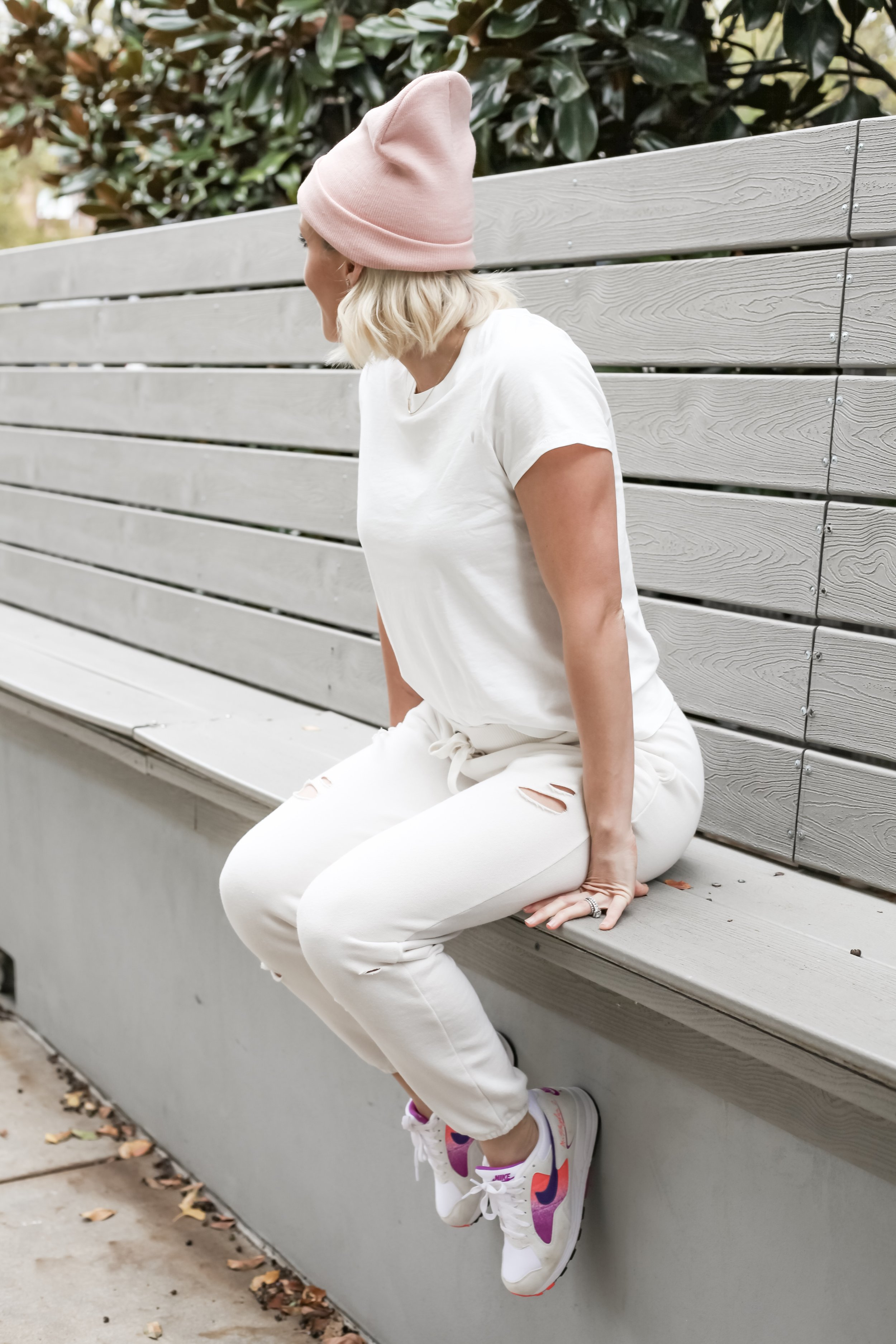 Outfit Details:  Tee  |  Joggers  |  Hat  |  Sneakers