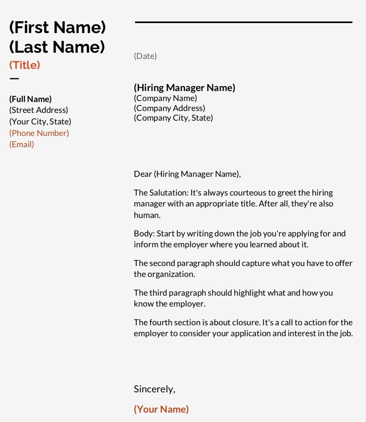Cover Letter Layout How To Write A Cover Letter With Examples