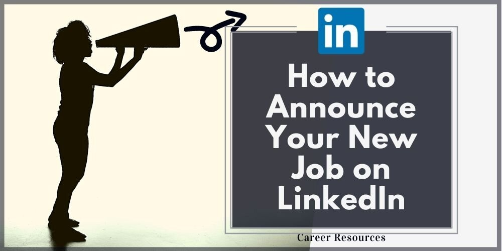 how to announce your new job on linkedin