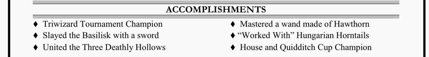 Accomplishments -