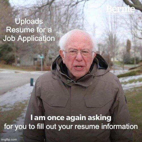 Resume Application Meme