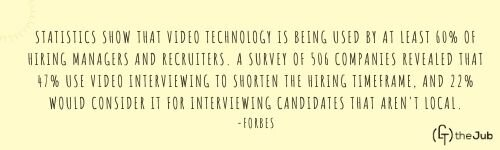 Video Interview stat from forbes
