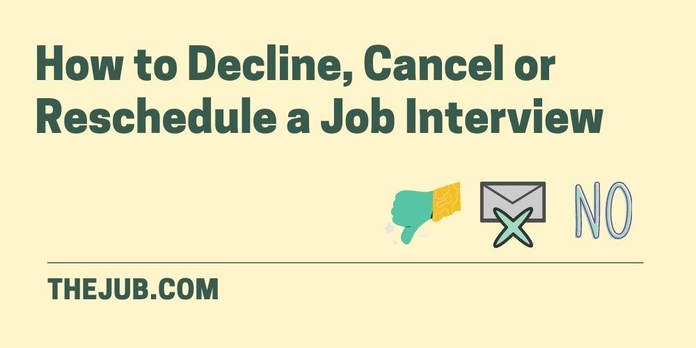 How to decline a job interview