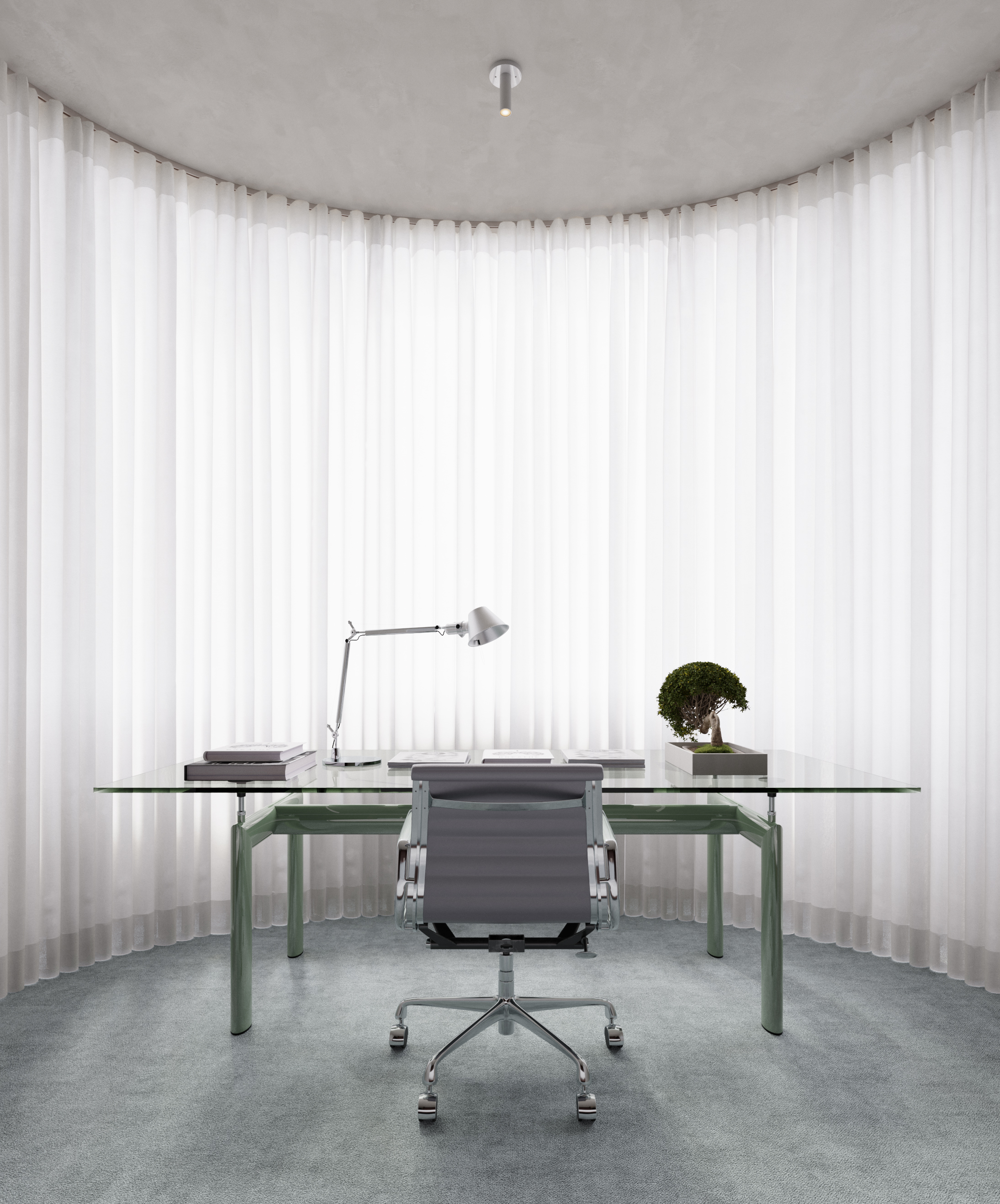 Copy of MRBL project Artem Trigubchak table cassina artemide curtain home office