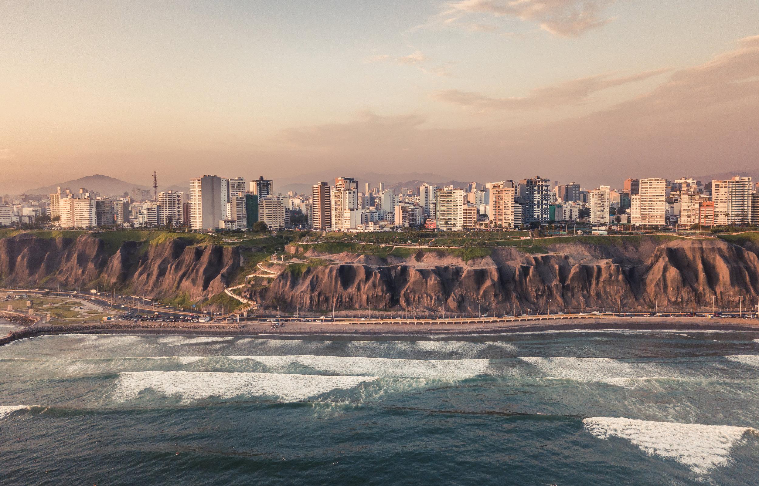 Die peruanische Hauptstadt Lima