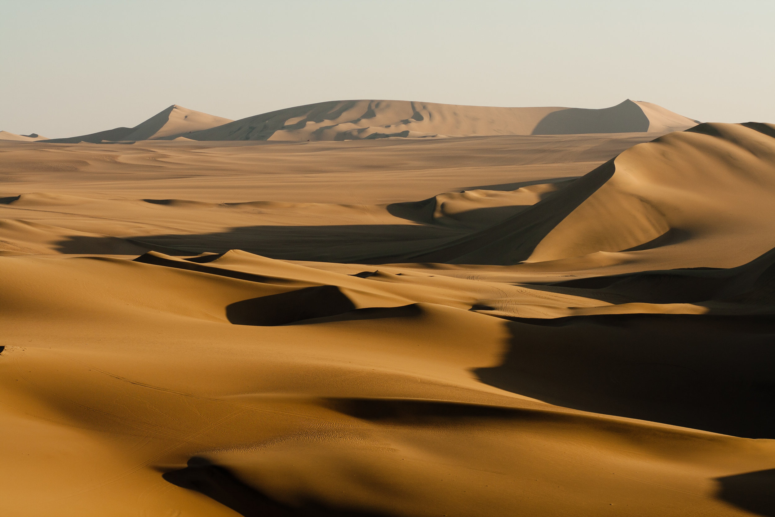 Die mächtigen Sanddünen bei Huacachina