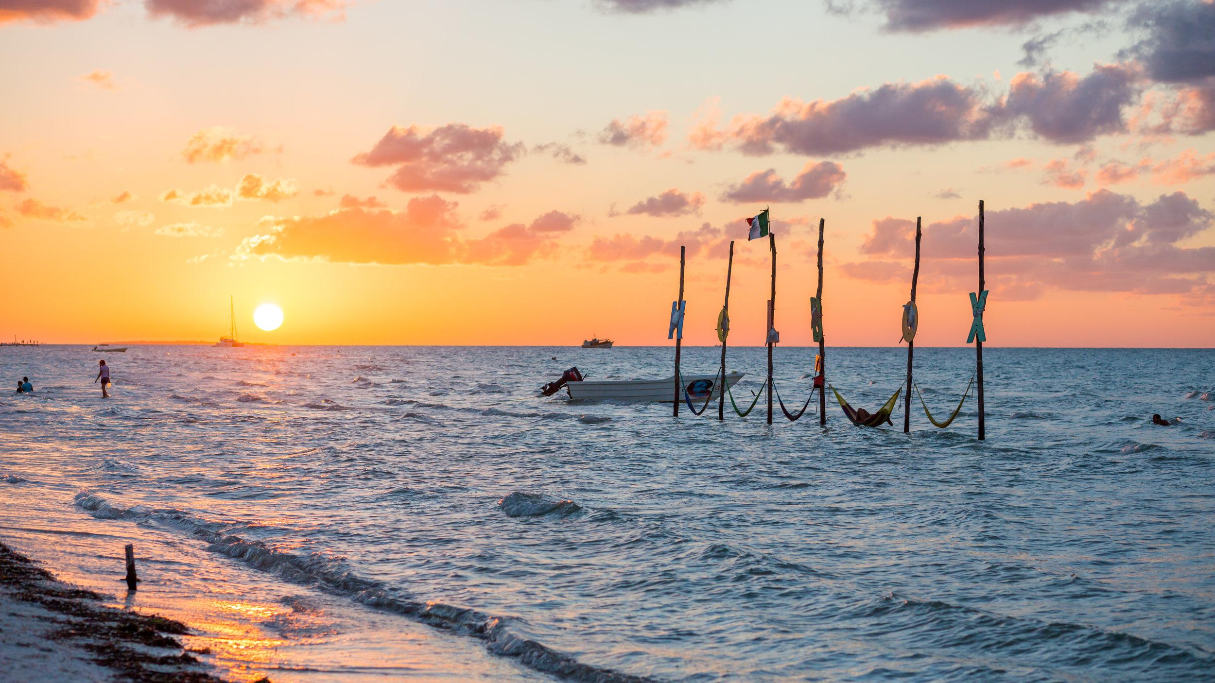 Sonnenuntergang auf der Isla Holbox