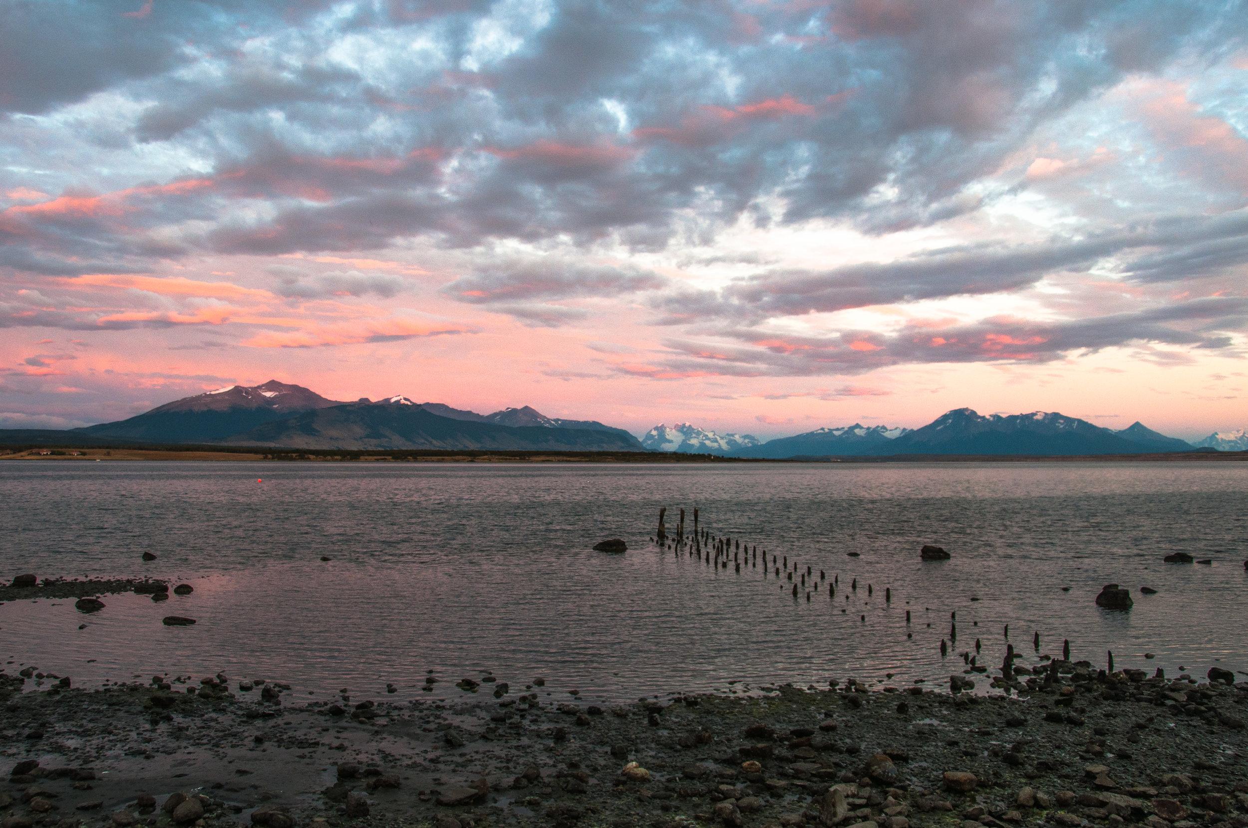 Blick von Puerto Natales