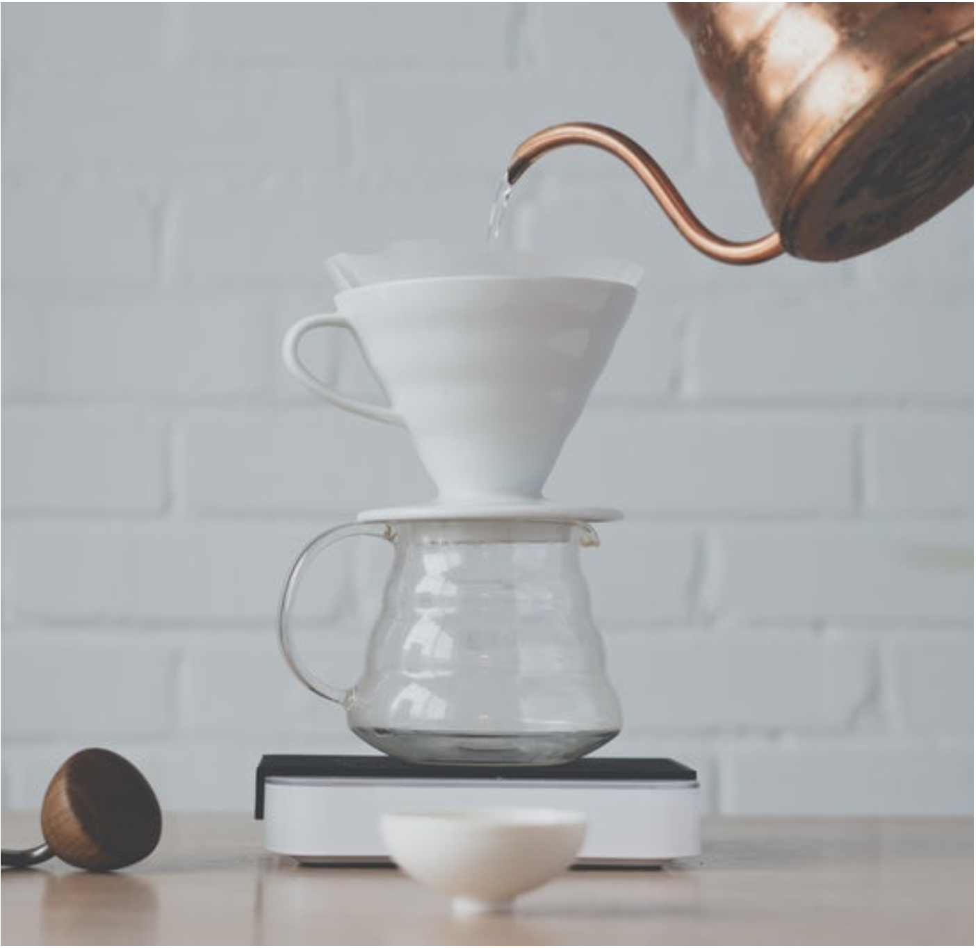 Hario V60 pour-over featured with a gooseneck kettle