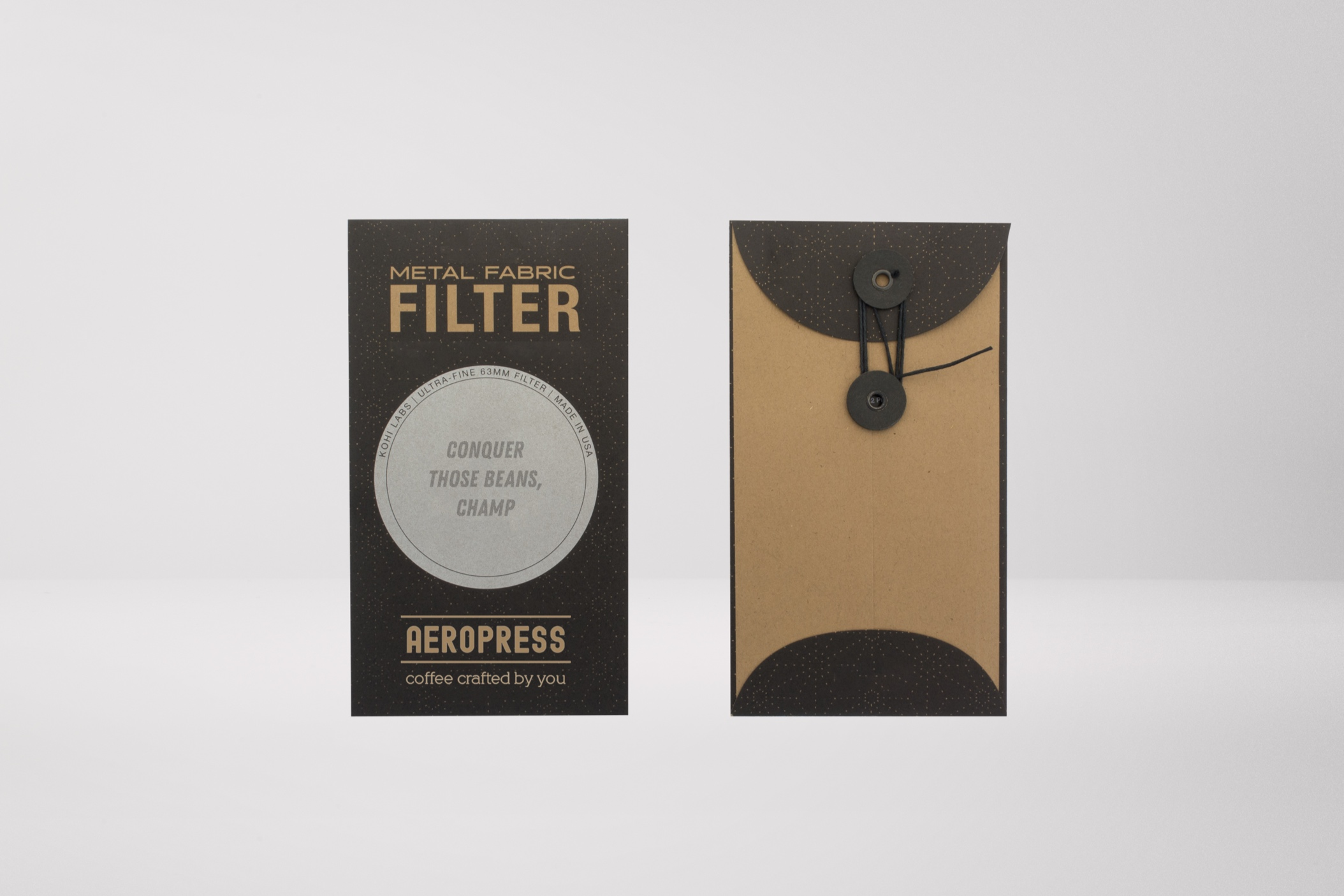 Aeropress currently doesn't sell their own paper filters, which is an oversight easily remedied and customized.