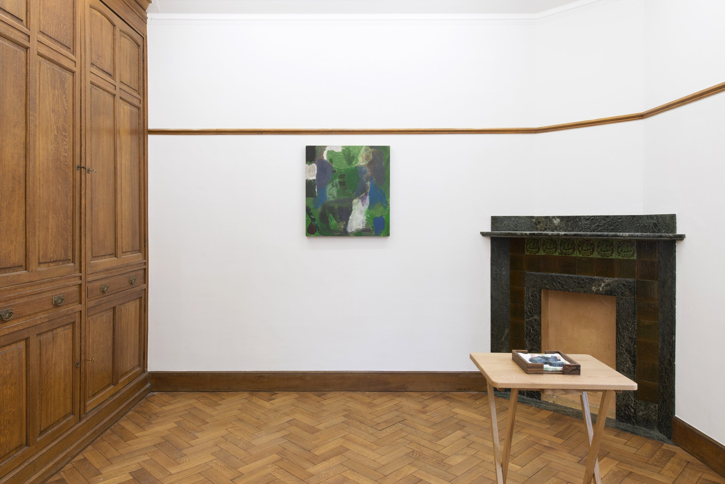 """Andy Giannakakis, """"The Earth Axis Tilt Shifts,"""" installation view, Park View/Paul Soto, Brussels, Belgium, 2018"""