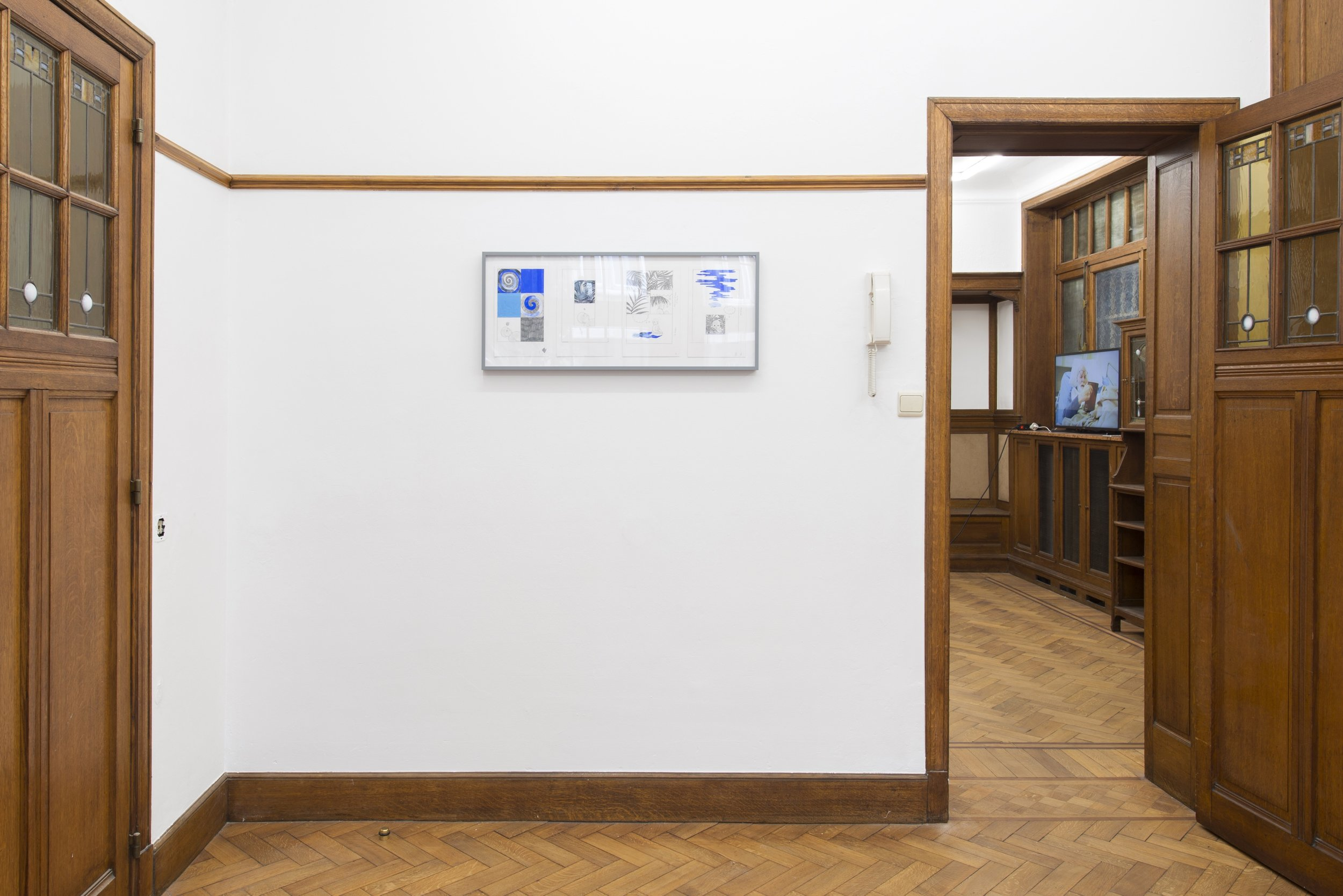 "Aidan Koch, ""The Earth Axis Tilt Shifts,"" installation view, Park View/Paul Soto, Brussels, 2018"