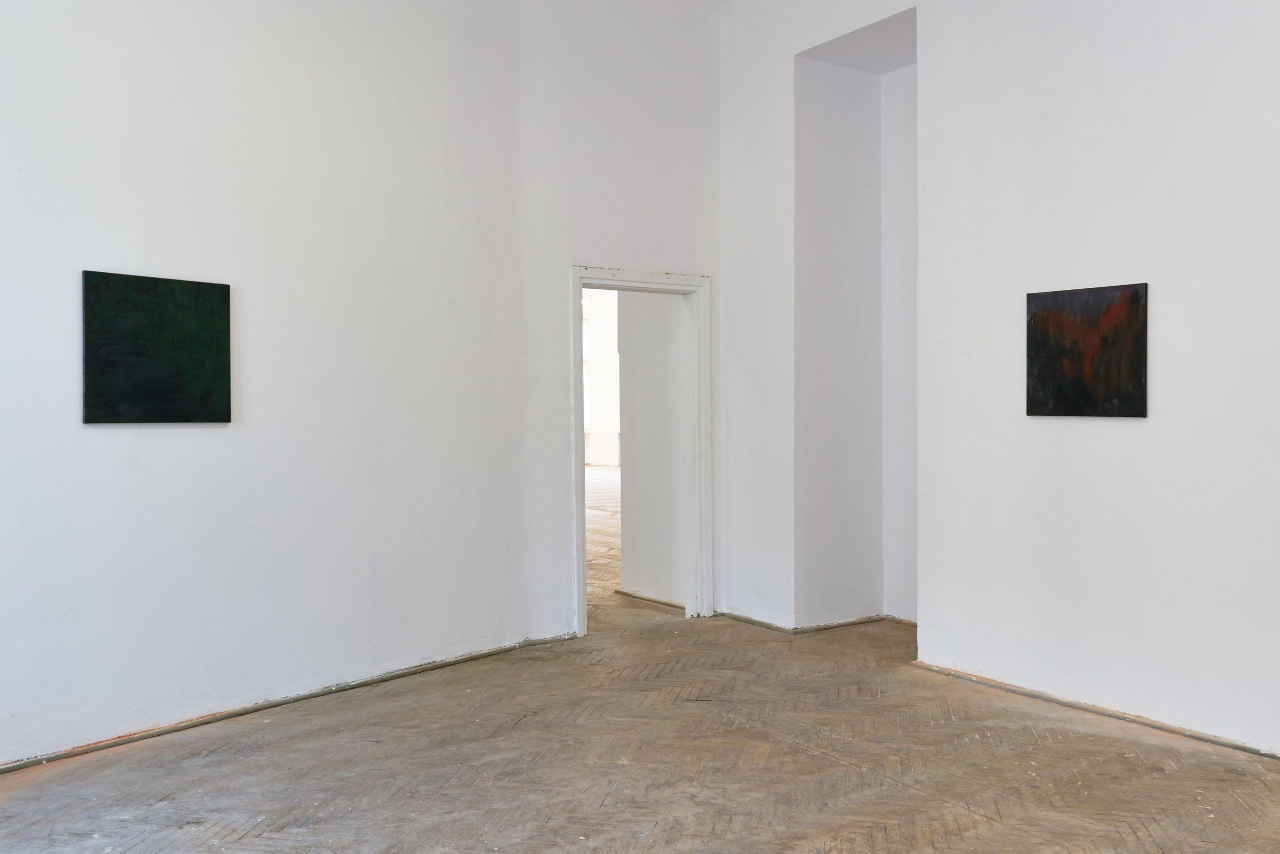 """Kate Spencer Stewart, """"Friend of a Friend Warsaw,"""" installation view, Piktogram Gallery, 2019"""