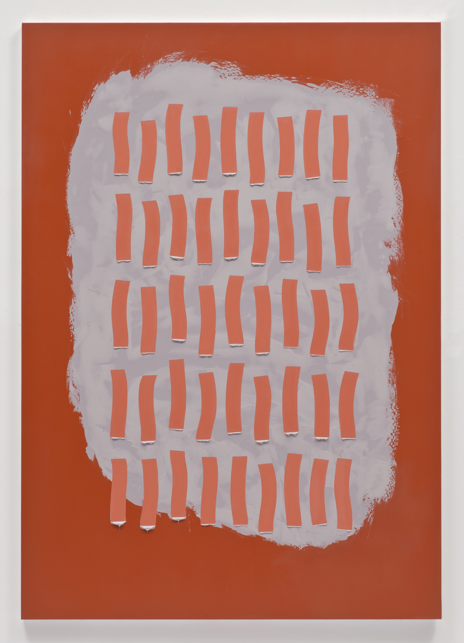 Alex Olson,  Proposal 12 , 2013, oil and modeling paste on linen, 61 x 43 inches (154.9 x 109.2 cm)