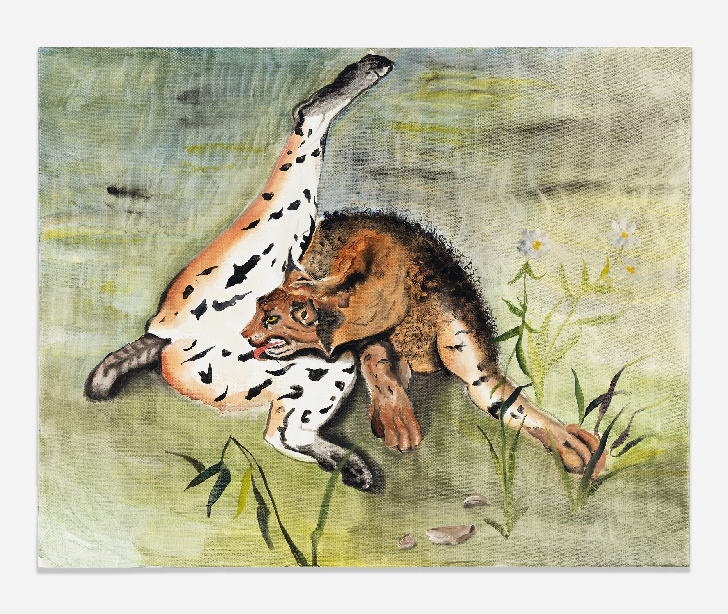 Autumn Ramsey,  Spotted Cat , 2015, oil on canvas, 24 x 30 inches (60.9 x 76.2 cm)