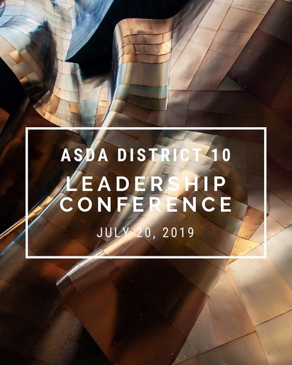 ASDA District 10 will be holding the ASDA's Leadership Conference in the beautiful city of Bellevue on July 20th! Please be sure to sign up 😊 It is free for ASDA members! Check out the UW ASDA's Facebook for the link to sign up.