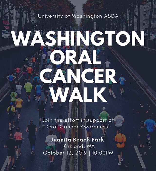 Friendly reminder that the oral cancer walk in Juanita Beach Park is coming up! Please register and come support a great cause 😊🦷 You can register and donate at donate.oralcancer.org