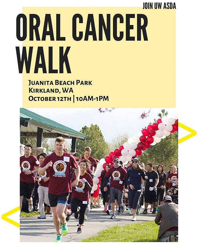 """The oral cancer foundation is hosting will be hosting the Washington Oral Cancer Walk in Kirkland, WA! They want YOU, UW Dental students, to come support and spread awareness for oral cancer 🤗 Registration will be $30 and join the """"UW Dental Students"""" team when signing up. . . . https://donate.oralcancer.org/index.cfm?fuseaction=donorDrive.event&eventID=800"""