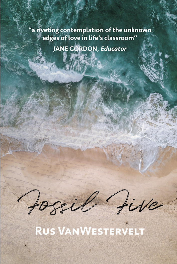 """Fossil Five - """"This new novel from Rus Vanwestervelt is a beautiful exploration of love, loss, grief, hope and the lessons learned.""""— JAR Writer's Collective"""