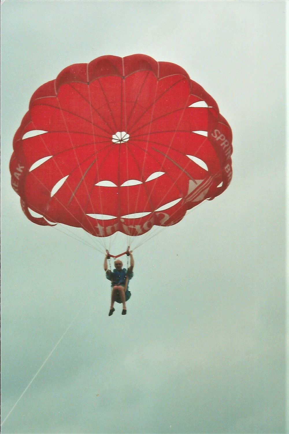 Ken tried everything -- even parasailing!