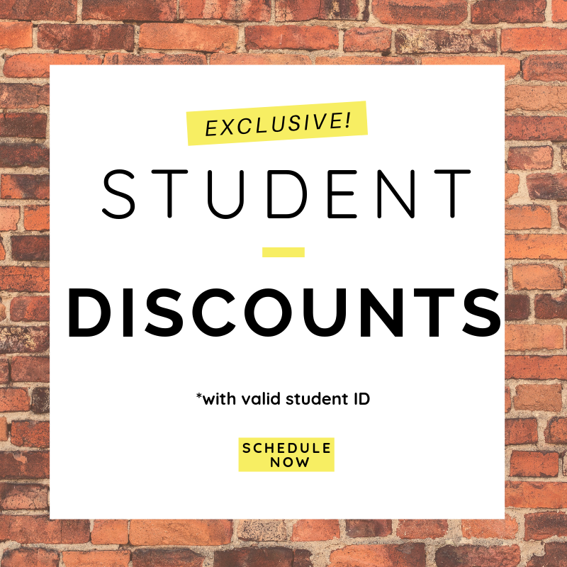 Exclusive Student Discounts   Bring in your valid student ID and take advantage of the special student pricing while pursuing your education!