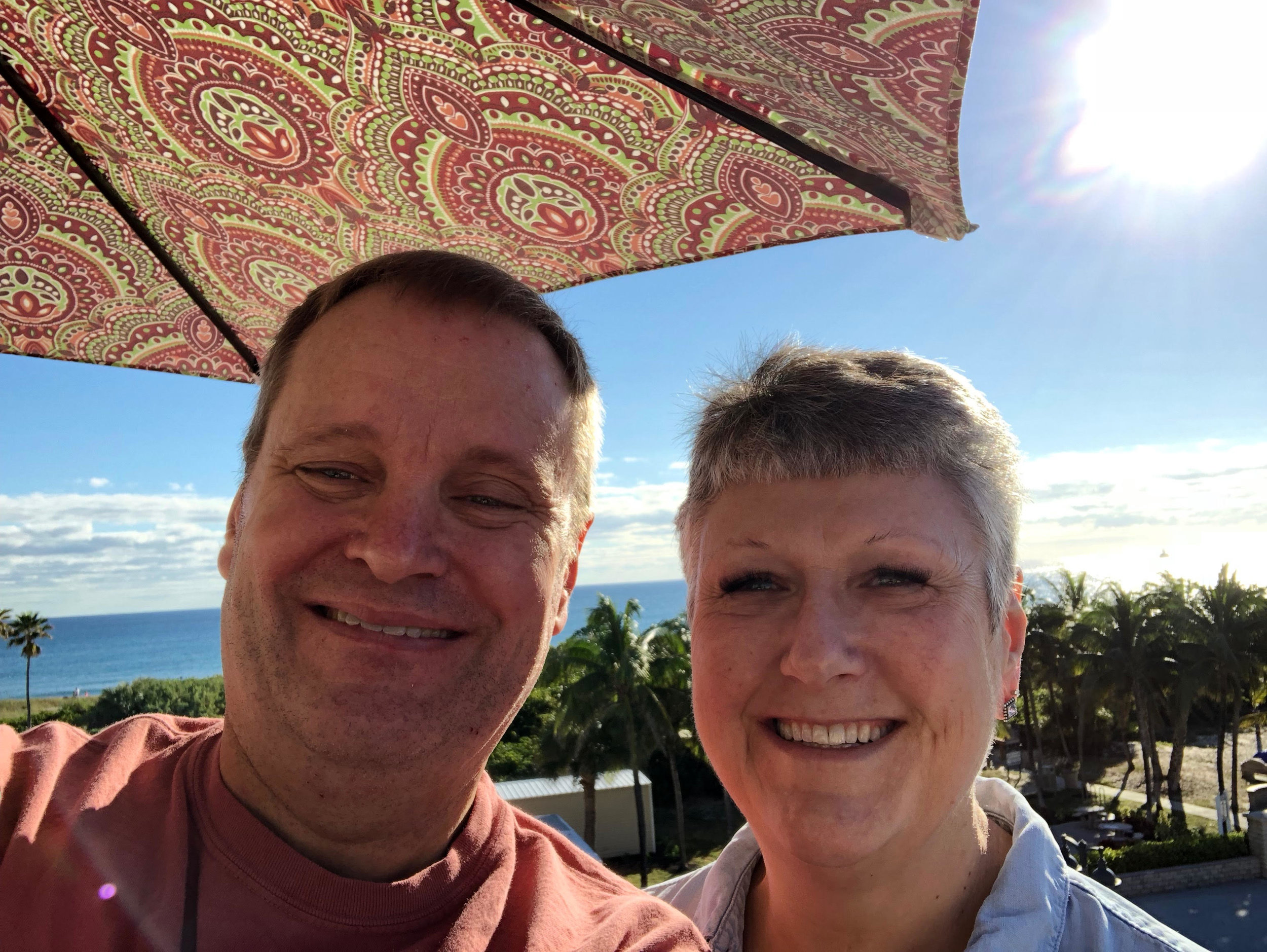 My wife April and I having a blast in Florida during the 2018 holidays.