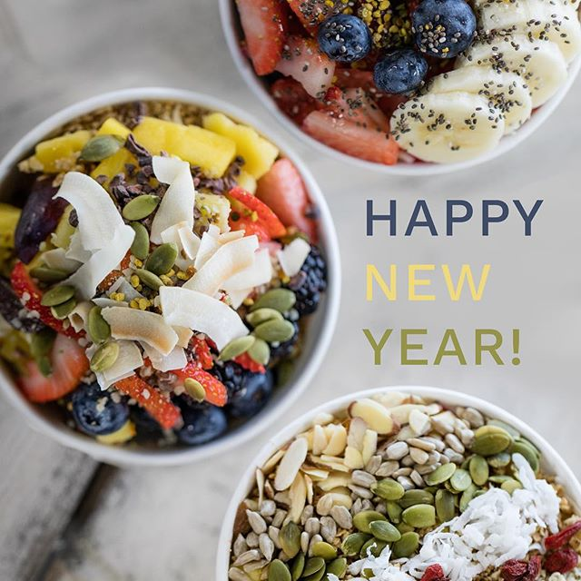 HAPPY NEW YEAR! We hope this new year brings you lots of health, happiness, and new adventures! #newyear #2018herewecome #newyearsresolution #newyearsresolutions #newyearnewme #acaibowl #sunnysandiego #sandiegoeats #sandiegoacai #sandiegoacaibowls #healthandwellness