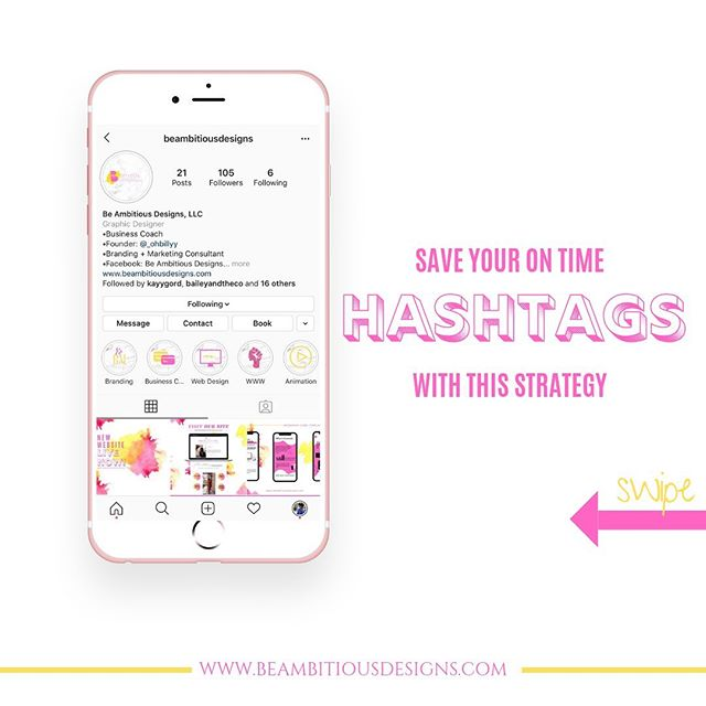 Want to know how to save time on those daunting #hashtags ? Swipe to learn more.  #revamp #graphicdesign #atlgraphicdesigner #atlwebdesigner #atlanta #atl #colordesign #pinkandyellow #ineedagraphicdesigner #uniquedesigns #blackisbeautiful #marketing #marketingdigital #market #goodcredit #promotion #likethis #raevenbailey #beambitiousdesigns